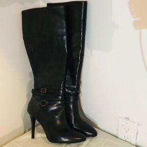 Ralph Lauren Black Heeled Boots